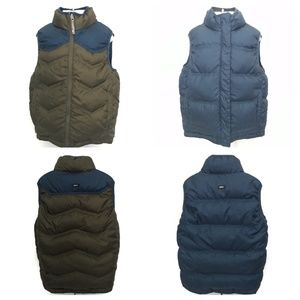 REI Reversible Blue Green Goose Down Puffy Vest
